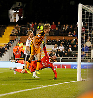 GOAL - Fikayo Tomori of Hull City scores to make it 1-1 during the Sky Bet Championship match between Fulham and Hull City at Craven Cottage, London, England on 13 September 2017. Photo by Carlton Myrie.