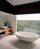 AUSTRALIA, Kangaroo Island, Hanson Bay, bathroom with tub in luxury spa hotel Southern Ocean Lodge