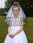 Maria Carton who received first holy communion in St Joseph's church Mell. Photo:Colin Bell/pressphotos.ie
