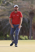 Romain Langasque (FRA) in action during round 3, Ras Al Khaimah Challenge Tour Grand Final played at Al Hamra Golf Club, Ras Al Khaimah, UAE. 02/11/2018<br /> Picture: Golffile | Phil Inglis<br /> <br /> All photo usage must carry mandatory copyright credit (&copy; Golffile | Phil Inglis)