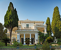 The Achilleion Palace in the Village Gastouri of Corfu build by Empress Elisabeth of Austria (known as 'Sissi') and later purchased by Kaiser William II of Germany