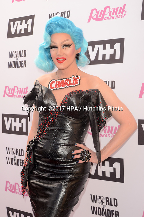 LOS ANGELES - JUN 9:  Charlie Hides at the RuPauls Drag Race Season 9 Finale Taping at the Alex Theater on June 9, 2017 in Glendale, CA