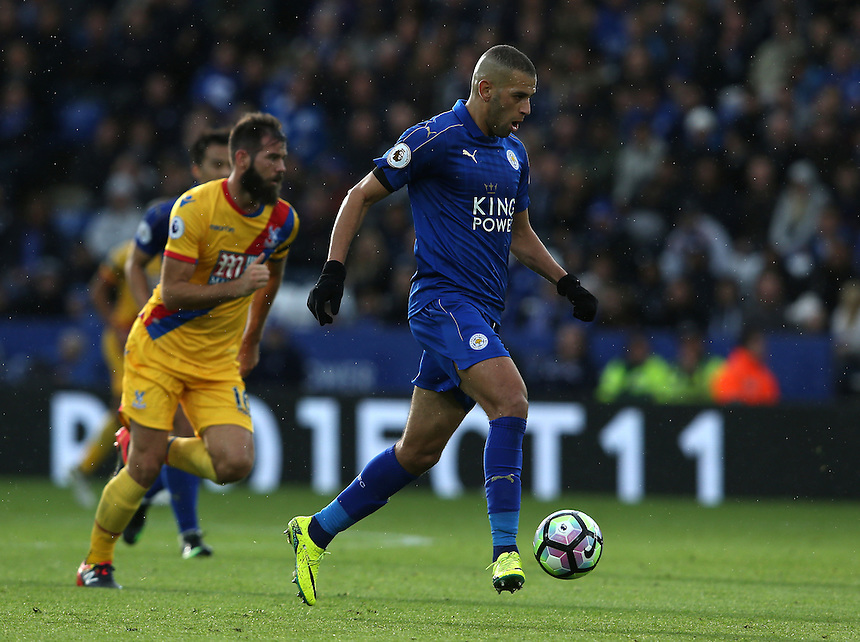 Leicester City's Islam Slimani<br /> <br /> Photographer Stephen White/CameraSport<br /> <br /> The Premier League - Leicester City v Crystal Palace - Saturday 22nd October 2016 - King Power Stadium - Leicester<br /> <br /> World Copyright &copy; 2016 CameraSport. All rights reserved. 43 Linden Ave. Countesthorpe. Leicester. England. LE8 5PG - Tel: +44 (0) 116 277 4147 - admin@camerasport.com - www.camerasport.com