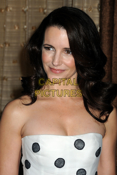 KRISTIN DAVIS .13th Annual Costume Designers Guild Awards held at The Beverly Hilton Hotel, Beverly Hills, California, USA, .22nd February 2011..portrait headshot beauty  black and white strapless polka dot .CAP/ADM/BP.©Byron Purvis/AdMedia/Capital Pictures.