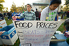 Oct. 22, 2011; The Asian-American Student Association food stand on Gameday...Photo by Matt Cashore/University of Notre Dame