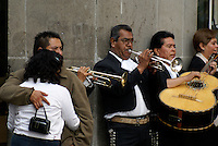 Mariachis performing in downtown Mexico City