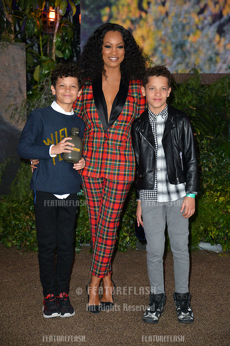 Garcelle Beauvais &amp; Sons at the Los Angeles premiere of &quot;Jumanji: Welcome To the Jungle&quot; at the TCL Chinese Theatre, Hollywood, USA 11 Dec. 2017<br /> Picture: Paul Smith/Featureflash/SilverHub 0208 004 5359 sales@silverhubmedia.com