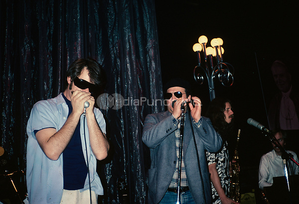 Dan Aykroyd and John Belushi of The Blues Brothers pictured performing by Nancy Barr.  © Nancy Barr  / MediaPunch