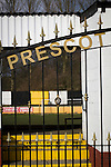 An exterior view of the stadium pictured before Prescot Cables played Brighouse Town in a Northern Premier League division one north fixture at Valerie Park. Founded in 1884, the 'Cables' in their name came from the largest local employer, British Insulated Cables and they have played in their current ground, also known as Hope Street, since 1906. Prescott won the match 2-1 watched by a crowd of 189.