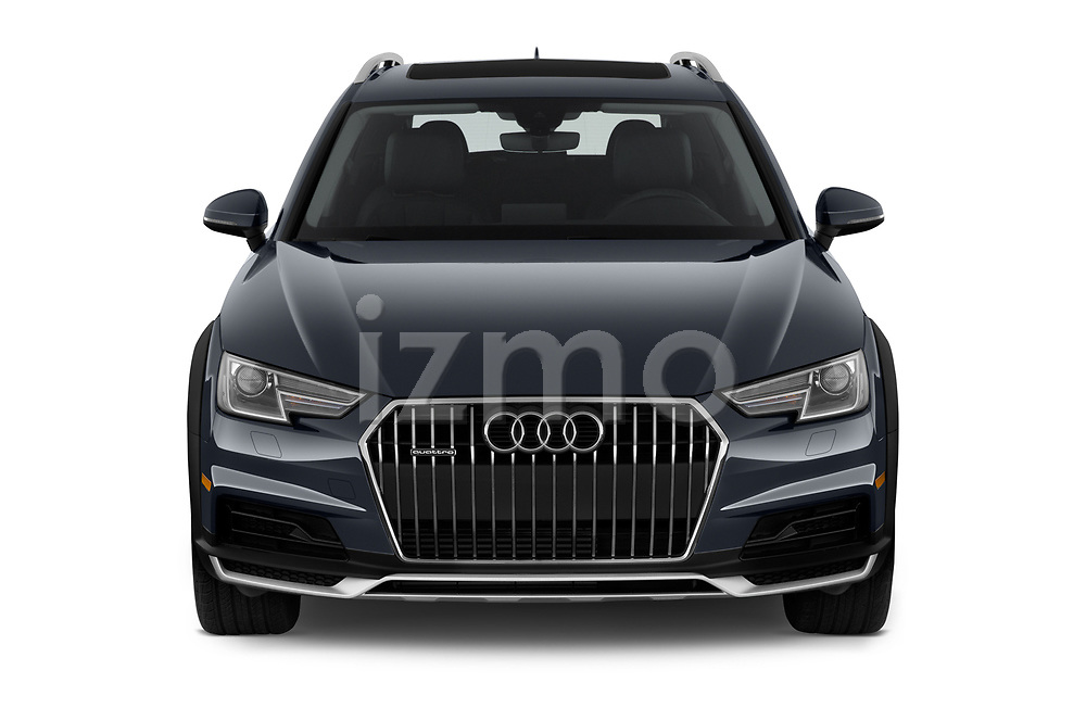 Car photography straight front view of a 2018 Audi allroad Premium 5 Door Wagon