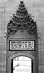Blue Mosque Portal - Portal stalactites and calligraphy over the courtyard entry from the Hippodrome, Blue Mosque, Sultanahmet, Istanbul, Turkey