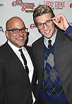 Eric Rosen & Claybourne Elder sporting a pair of signature 'Ralphie' specs at the Broadway Opening Night Performance for 'A Christmas Story - The Musical'  at the Lunt Fontanne Theatre in New York City on 11/19/2012.