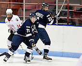 Braden Pimm (Northeastern - 14), Scott Brannon (StFX - 72), Kevin Undershute (StFX - 21) - The visiting St. Francis Xavier University X-Men defeated the Northeastern University Huskies 8-5 on Sunday, October 2, 2011, at Matthews Arena in Boston, Massachusetts.