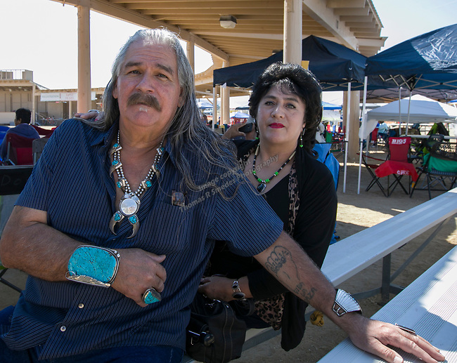 Frederico and Hermilinda during the Numaga Indian Days Pow Wow in Hungry Valley on Saturday, Sept. 1, 2018.