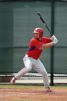 Philadelphia Phillies Andrew Pullin (27) during a minor league spring training intrasquad game on March 27, 2015 at the Carpenter Complex in Clearwater, Florida.  (Mike Janes/Four Seam Images)