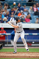 Scranton/Wilkes-Barre RailRiders third baseman Brandon Drury (29) at bat during a game against the Syracuse Chiefs on June 14, 2018 at NBT Bank Stadium in Syracuse, New York.  Scranton/Wilkes-Barre defeated Syracuse 9-5.  (Mike Janes/Four Seam Images)