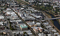 aerial photograph downtown Santa Cruz, California
