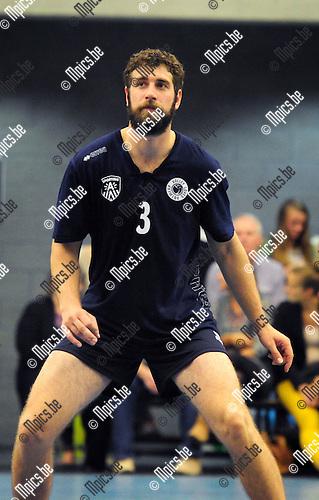 2014-08-30 / Volleybal / seizoen 2014-2015 / Topvolley Antwerpen / Yannick VAN HARSKAMP <br /><br />Foto: Mpics.be