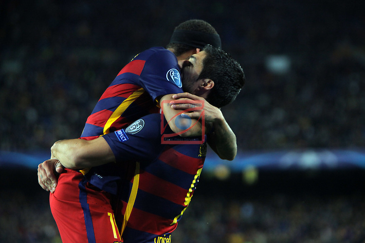 UEFA Champions League 2015-2016. Matchday 4.<br /> FC Barcelona vs FC BATE Borisov: 3-0.<br /> Luis Suarez &amp; Neymar.