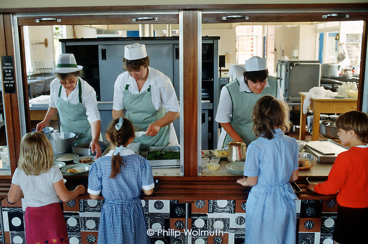 Lunchtime in a  primary school, Kent