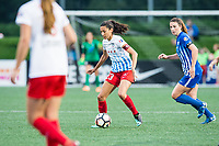 Boston, MA - Friday July 07, 2017: Christen Press during a regular season National Women's Soccer League (NWSL) match between the Boston Breakers and the Chicago Red Stars at Jordan Field.
