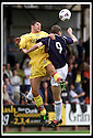 05/08/2001          Collect Pic : James Stewart .Ref : 673N9192                          .File Name : stewart05-falkirk v ayr utd.AYR'S DAVID CRAIG AND FALKIRK'S KENNY DEUCHAR CHALLENGE FOR THE BALL.......James Stewart Photo Agency, Stewart House, Stewart Road, Falkirk. FK2 7AS      Vat Reg No. 607 6932 25.Office : +44 (0)1324 630007     Mobile : + 44 (0)7721 416997.Fax     :  +44 (0)1324 630007.E-mail : jim@jspa.co.uk.If you require further information then contact Jim Stewart on any of the numbers above.........