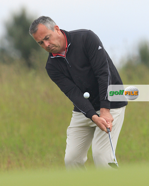Pat Murray (Limerick) on the 4th during Round 5 of the Irish Amateur Close Championship at Seapoint Golf Club on Tuesday 10th June 2014.<br /> Picture:  Thos Caffrey / www.golffile.ie
