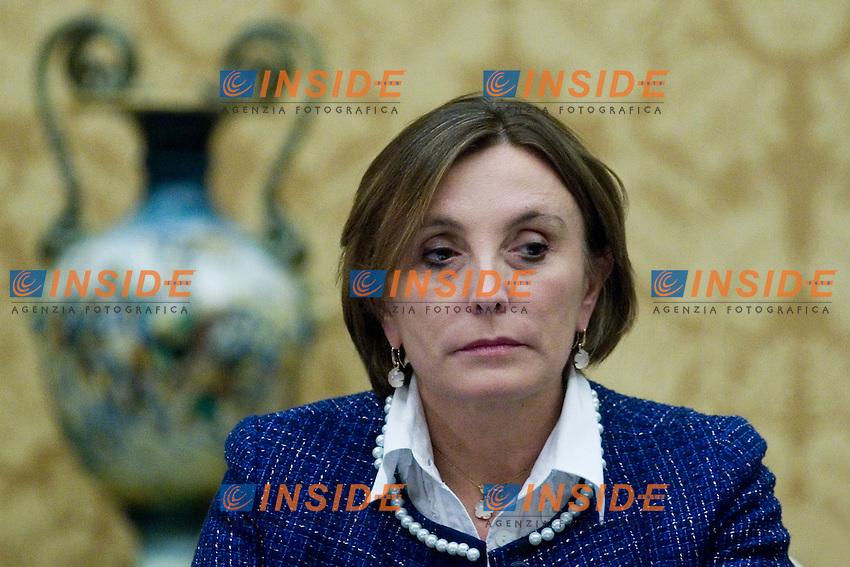 IL DIRETTORE GENERALE DELLA RAI LORENZA LEI ALL INCONTRO CELEBRATIVO PELLEGRINI DELLA VERITA PELLEGRINI DELLA PACE ALLA CAMERA DEI DEPUTATI..ROMA 27 SETTEMBRE  2011..PHOTO  INSIDEFOTO..............................