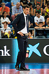 FC Barcelona Lassa coach Georgios Bartzokas during the final of Supercopa of Liga Endesa Madrid. September 24, Spain. 2016. (ALTERPHOTOS/BorjaB.Hojas)