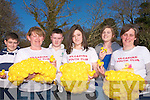 To raise funds for a defribillator for Kilgarvan village the local youth club have organised a duck race on Easter Monday to raise much needed funds for the project .Back L-R Sean Tiffin, Jack Healy Rae, Ashlee Keane.Front L-R Carmel Godfrey, Yvonne O'Connall, Michelle O'Connell.