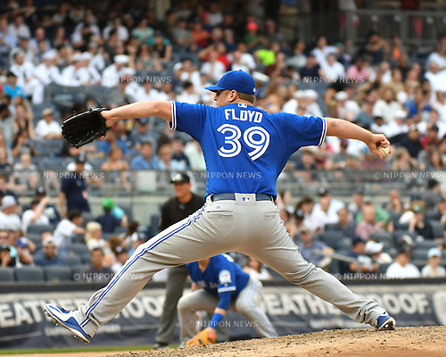 Gavin Floyd (Blue Jays),<br /> MAY 26, 2016 - MLB : Gavin Floyd of the Toronto Blue Jays during the Major League Baseball game at Yankee Stadium in the Bronx, NY, USA.<br /> (Photo by Hiroaki Yamaguchi/AFLO)