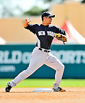 8 March 2011: New York Yankees' infielder Kevin Russo in action during a Spring Training game against the Atlanta Braves at Champion Park in Orlando, Florida. The Yankees edged out the Braves 5-4 in Grapefruit League action. Mandatory Credit: Ed Wolfstein Photo