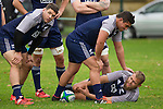 Ben May (L), Quentin MacDonald, Ben May. Maori All Blacks Tour of Fiji. Training at Kings College, Otahuhu, Auckland. July 7 2015. Photo: Marc Weakley