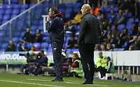 Swansea City manager Paul Clement and Reading manager Jakob Stam during the Carabao Cup Third Round match between Reading and Swansea City at Madejski Stadium, Reading, England, UK. Tuesday 19 September 2017