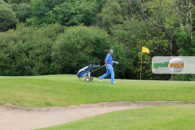 John O'Brien (Castlemartyr) on the 1st green during Round 3 of the Irish Mid-Amateur Open Championship at New Forest on Sunday 21st June 2015.<br /> Picture:  Thos Caffrey / www.golffile.ie