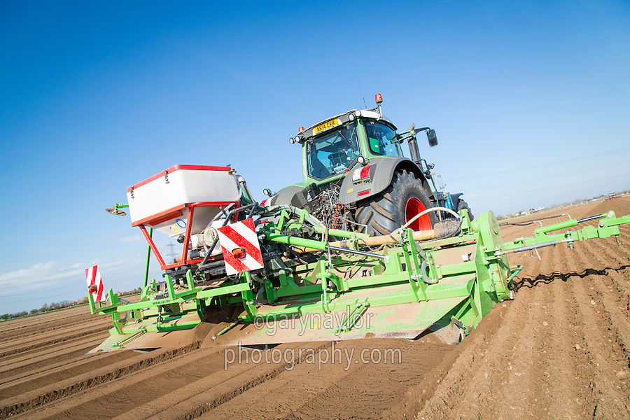 Cultivating for potatoes and applying Nemathorin