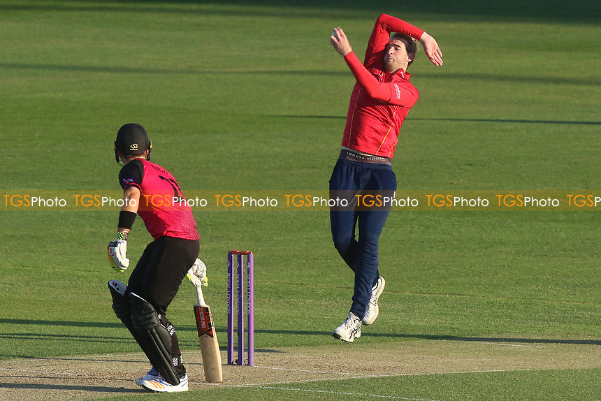Paul Walter in bowling action for Essex during Essex Eagles vs Sussex Sharks, Royal London One-Day Cup Cricket at The Cloudfm County Ground on 10th May 2017