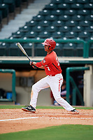 Canadian Junior National Team Antoine Jean (14) follows through on a swing during a Florida Instructional League game against the Atlanta Braves on October 9, 2018 at the ESPN Wide World of Sports Complex in Orlando, Florida.  (Mike Janes/Four Seam Images)