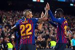 UEFA Champions League 2018/2019.<br /> Round of 16 2nd leg.<br /> FC Barcelona vs Olympique Lyonnais: 5-1.<br /> Arturo Vidal, Luis Suarez & Ousmane Dembele.