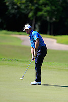 Greame McDowell (NIR) on the 3rd green during Round 3 of the Maybank Malaysian Open at the Kuala Lumpur Golf & Country Club on Saturday 7th February 2015.<br /> Picture:  Thos Caffrey / www.golffile.ie