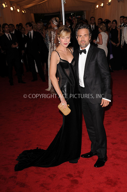 WWW.ACEPIXS.COM . . . . . ....May 7 2012, New York City....Sunrise Coigney and Mark Ruffalo arriving at the 'Schiaparelli And Prada: Impossible Conversations' Costume Institute Gala at the Metropolitan Museum of Art on May 7, 2012 in New York City.....Please byline: KRISTIN CALLAHAN - ACEPIXS.COM.. . . . . . ..Ace Pictures, Inc:  ..(212) 243-8787 or (646) 679 0430..e-mail: picturedesk@acepixs.com..web: http://www.acepixs.com