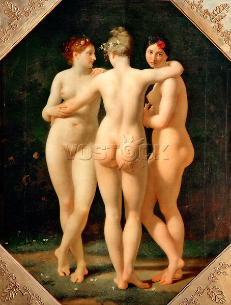 The Three Graces by Regnault, Jean-Baptiste (1754-1829) / Louvre, Paris / 1797-1798 / France / Oil on canvas / Mythology, Allegory and Literature / 204x153 / Neoclassicism