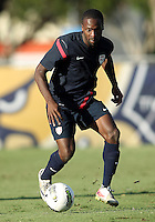 MIAMI, FL - DECEMBER 21, 2012:  Boyd Ocegueda of the USA MNT U20 during a closed scrimmage with the Venezuela U20 team, on Friday, December 21, 2012, At the FIU soccer field in Miami.  USA won 4-0.