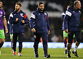 31st October 2017, Craven Cottage, London, England; EFL Championship football, Fulham versus Bristol City; Bristol City Manager Lee Johnson looking on