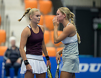 Rotterdam, Netherlands, December 15, 2016, Topsportcentrum, Lotto NK Tennis,  Doubles:  Dewi Dijkman (L)  / Dominique Karregat (NED)<br /> Photo: Tennisimages/Henk Koster