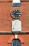 Church of Saint Mary the Virgin, Grundisburgh, Suffolk, England, UK clock and sundial