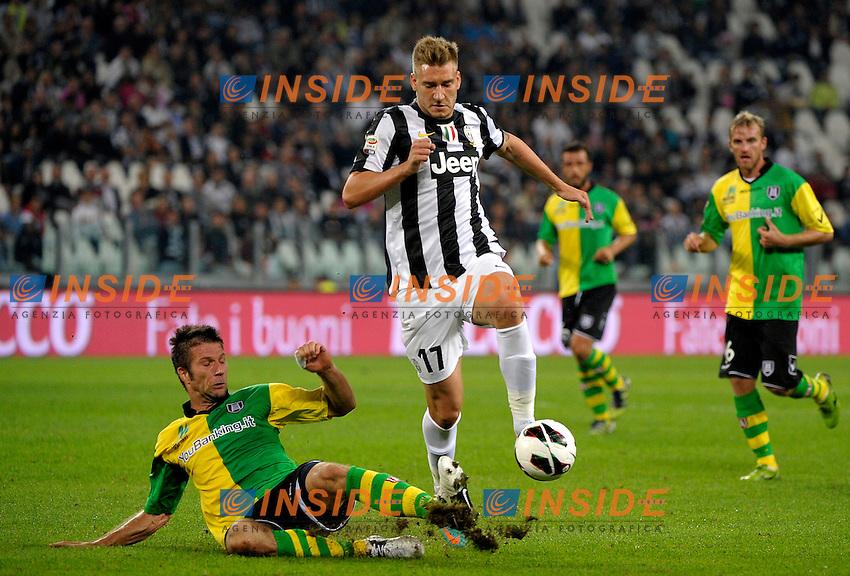 Nicklas Bendtner Juventus.Torino 22/9/2012 Juventus Stadium.Football Calcio 2012/2013 Serie A.Juventus Vs Chievo Verona.Foto Federico Tardito Insidefoto