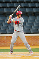 Jake Armstrong (23) of the North Carolina State Wolfpack at bat against the Wake Forest Demon Deacons at Wake Forest Baseball Park on March 15, 2013 in Winston-Salem, North Carolina.  The Wolfpack defeated the Demon Deacons 12-6.  (Brian Westerholt/Four Seam Images)
