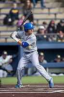 San Jose State Spartans outfielder Richard Kabasinskas (23) at bat against the Michigan Wolverines on March 27, 2019 in Game 1 of the NCAA baseball doubleheader at Ray Fisher Stadium in Ann Arbor, Michigan. Michigan defeated San Jose State 1-0. (Andrew Woolley/Four Seam Images)