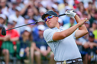 Cameron Champ (a)(USA) watches his tee shot on 1 during Saturday's round 3 of the 117th U.S. Open, at Erin Hills, Erin, Wisconsin. 6/17/2017.<br /> Picture: Golffile | Ken Murray<br /> <br /> <br /> All photo usage must carry mandatory copyright credit (&copy; Golffile | Ken Murray)